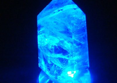 Blue Crystal LED Lamp