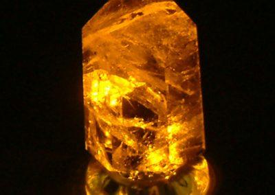 Orange Crystal LED Lamp