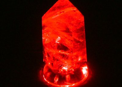 Red Crystal LED Lamp