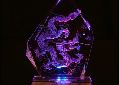 Dragon Crystal LED Lamp