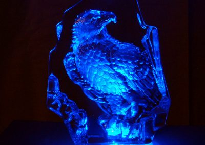 Eagle Crystal LED Lamp