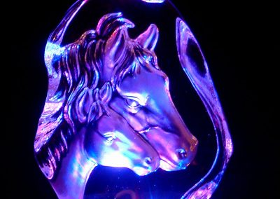 Crystal Horse LED Lamp