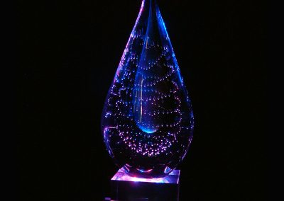 Purple Crystal Lamp
