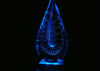Deep Blue Crystal Lamp