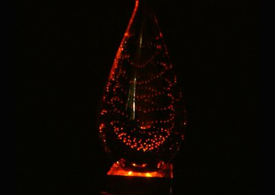 Deep red Crystal Lamp