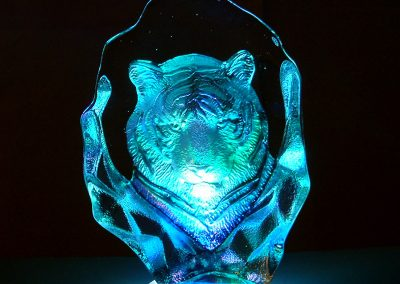 Crystal Tiger LED Lamp