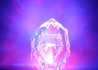 Wolf Crystal LED Lamp